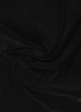 Black Raw Silk Fabric