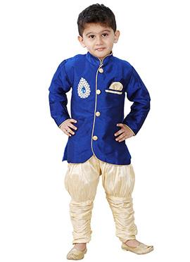 Blue Breeches Style Sherwani