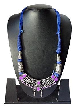 Blue N Pink Enamelled Necklace