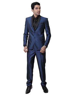Blue Rayon Lapel Suit