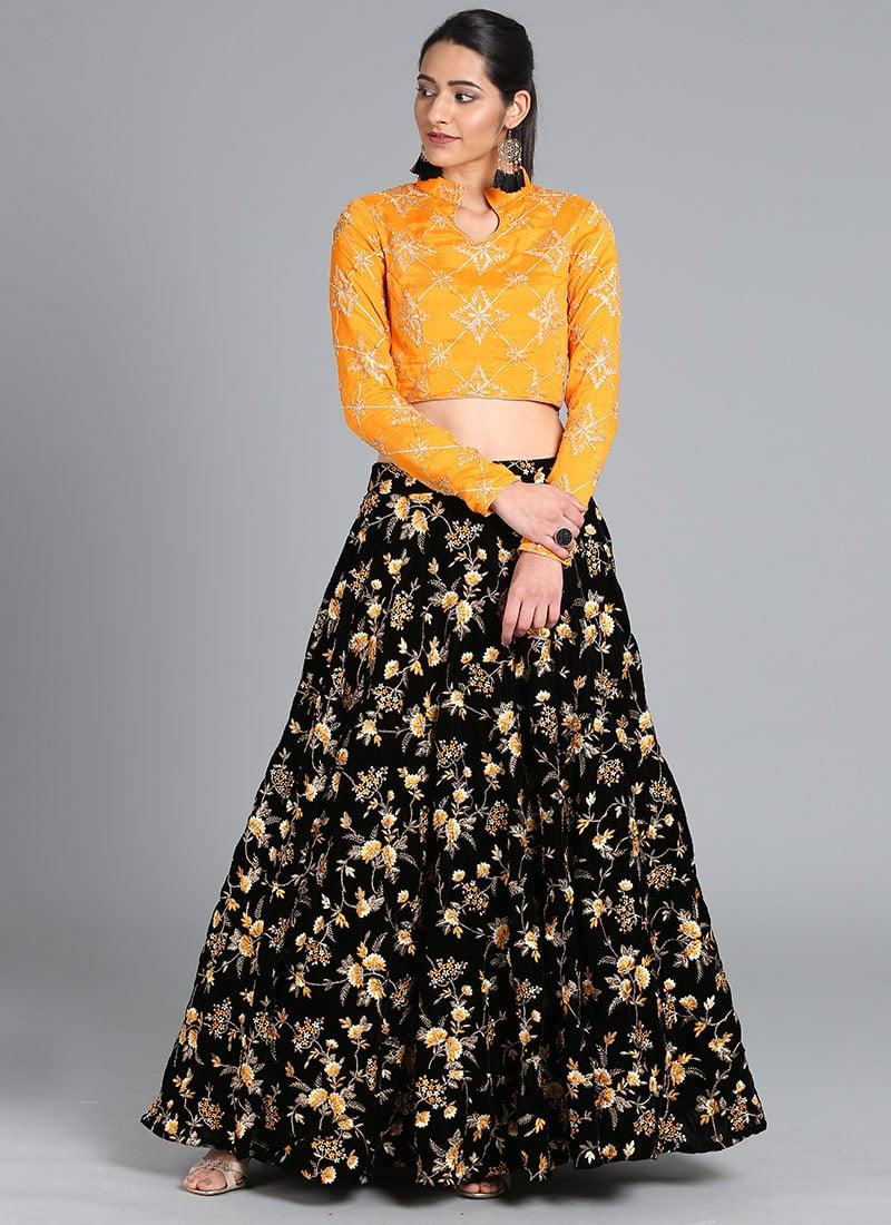 d55da989fa Buy Bollywood Vogue Custom Made Embroidered Skirt Set, Wedding ...