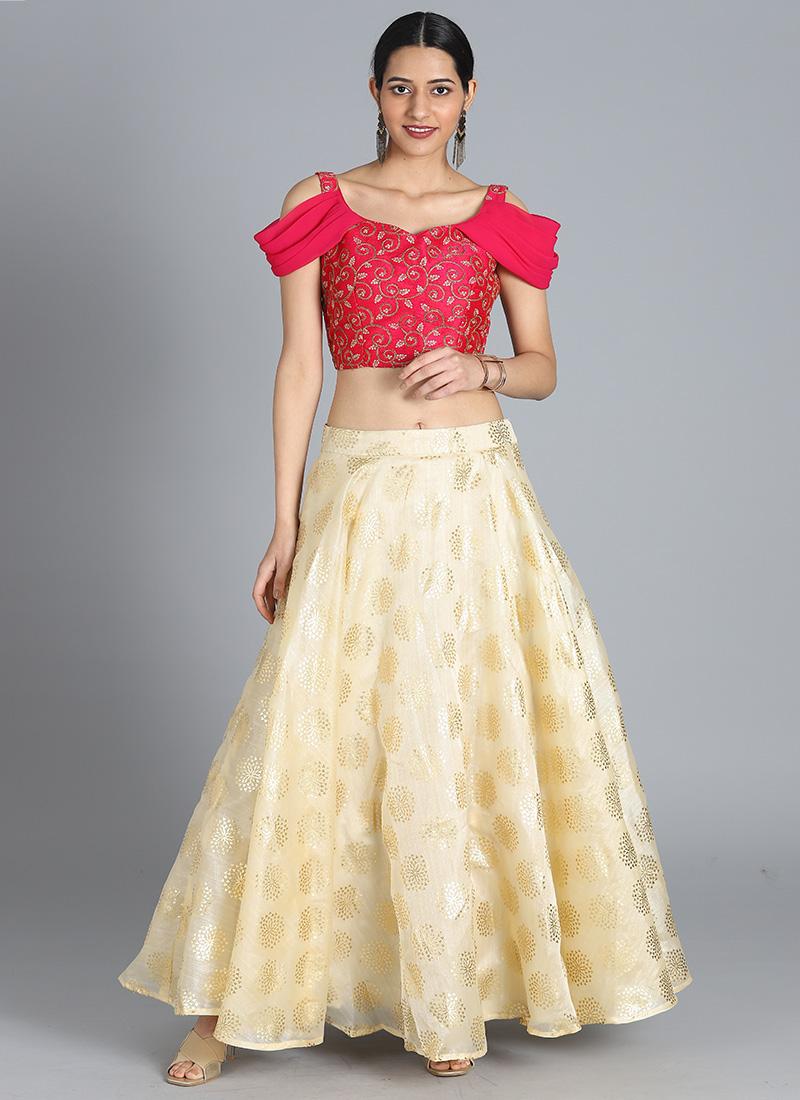 cf1805b862 Buy Bollywood Vogue Custom Made Embroidered Skirt Set, Party ...