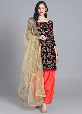 b398150e9f7 Bollywood Vogue Customised Black Patiala Suit ...