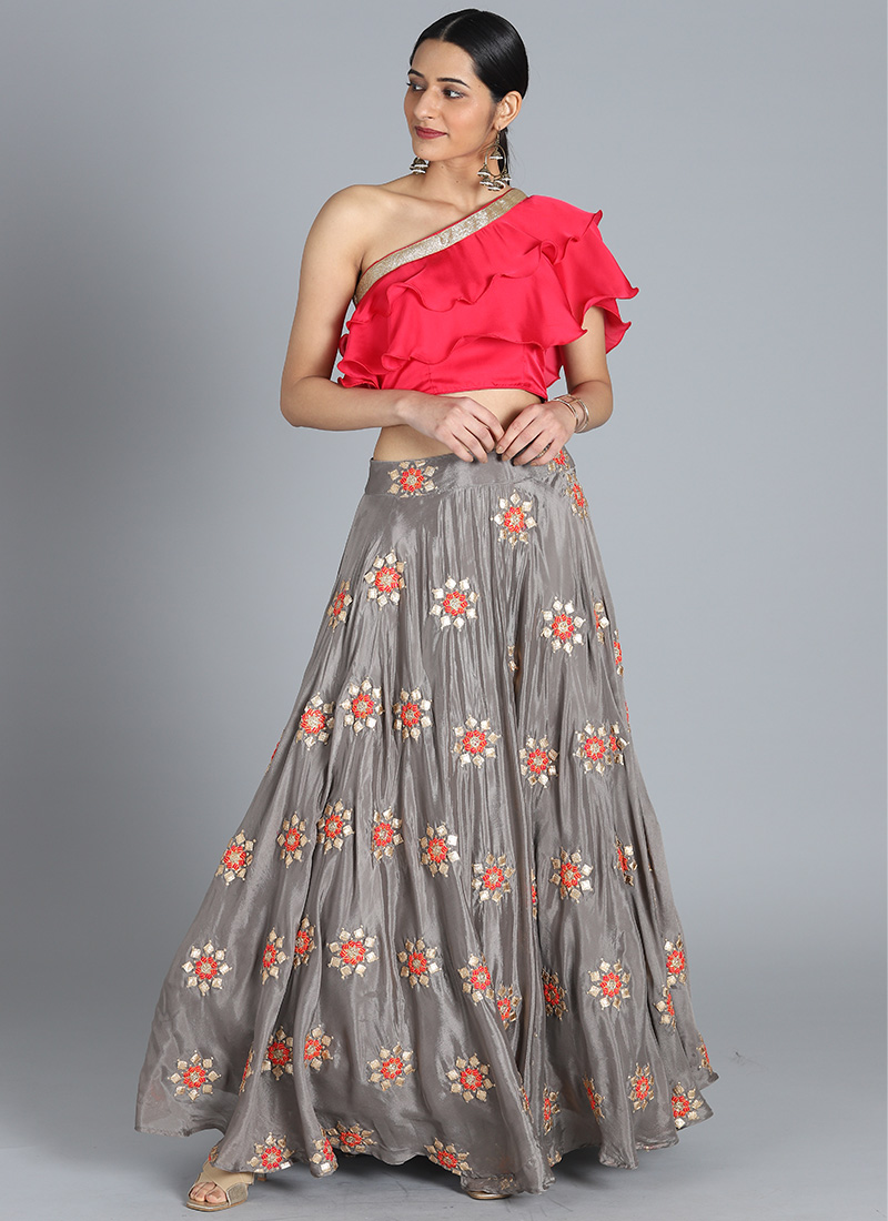 66c3bfc7c0 Buy Bollywood Vogue Customised Crop top and Skirt, Wedding ...