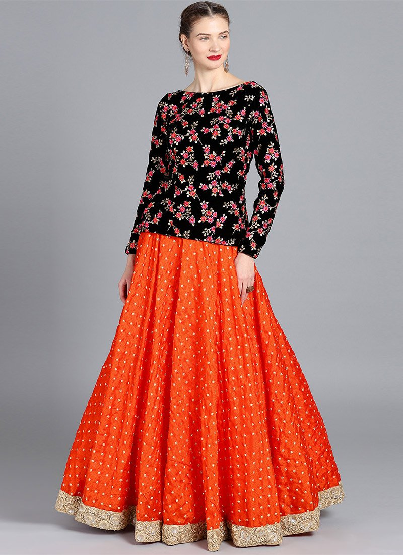 5fffa39bbe Buy Bollywood Vogue Customised Embroidered Top N Skirt, Wedding ...