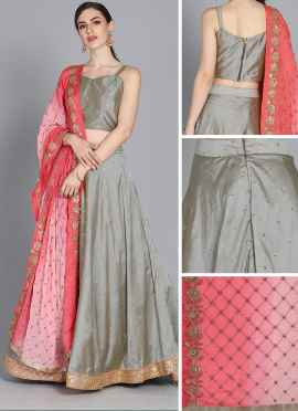 Grey Lehenga Choli dress