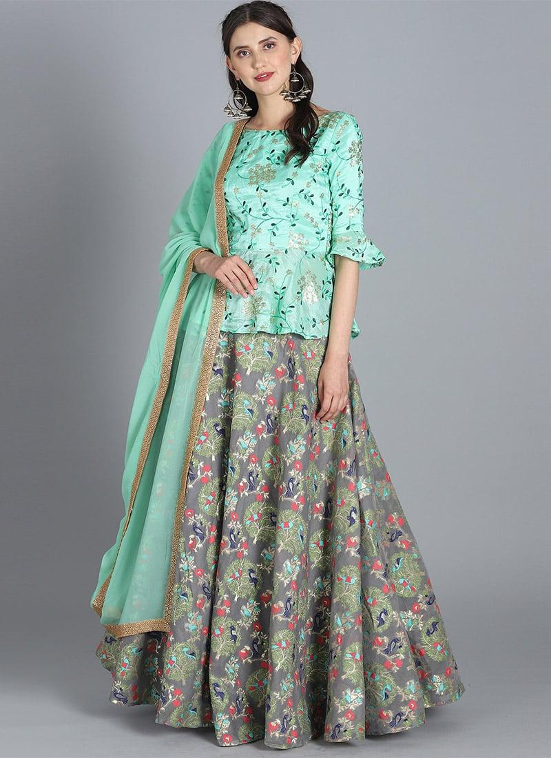 ba022d9475 Buy Bollywood Vogue Customised Peplum Lehenga set, Festive ...