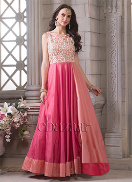 Bollywood Vogue Dual Tone Gown