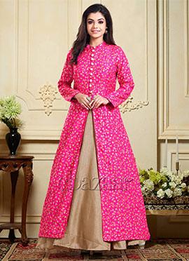 Bollywood Vogue Embellished Jacket Gown