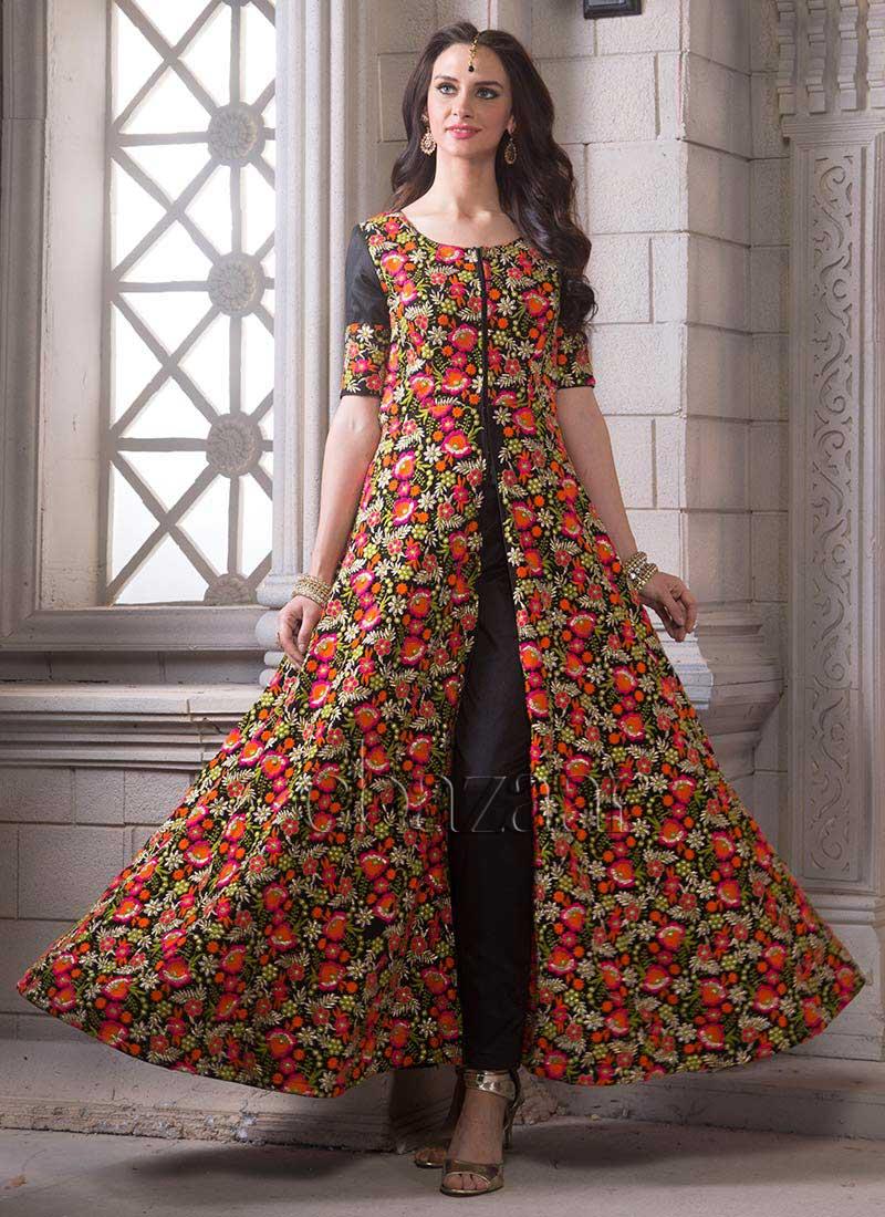 Buy Bollywood Vogue Front Slit Floor Length Anarkali