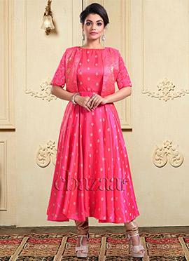 Bollywood Vogue Jacket Style Churidar Suit