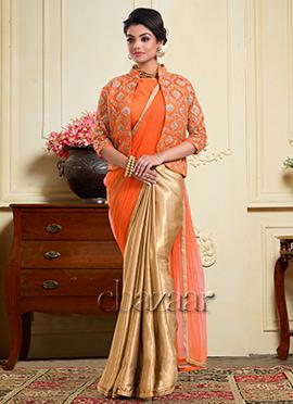 Bollywood Vogue Jacket Style Half N Half Sari