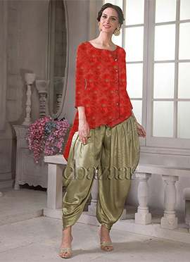 Bollywood Vogue Kameez With Dhoti Style Pants