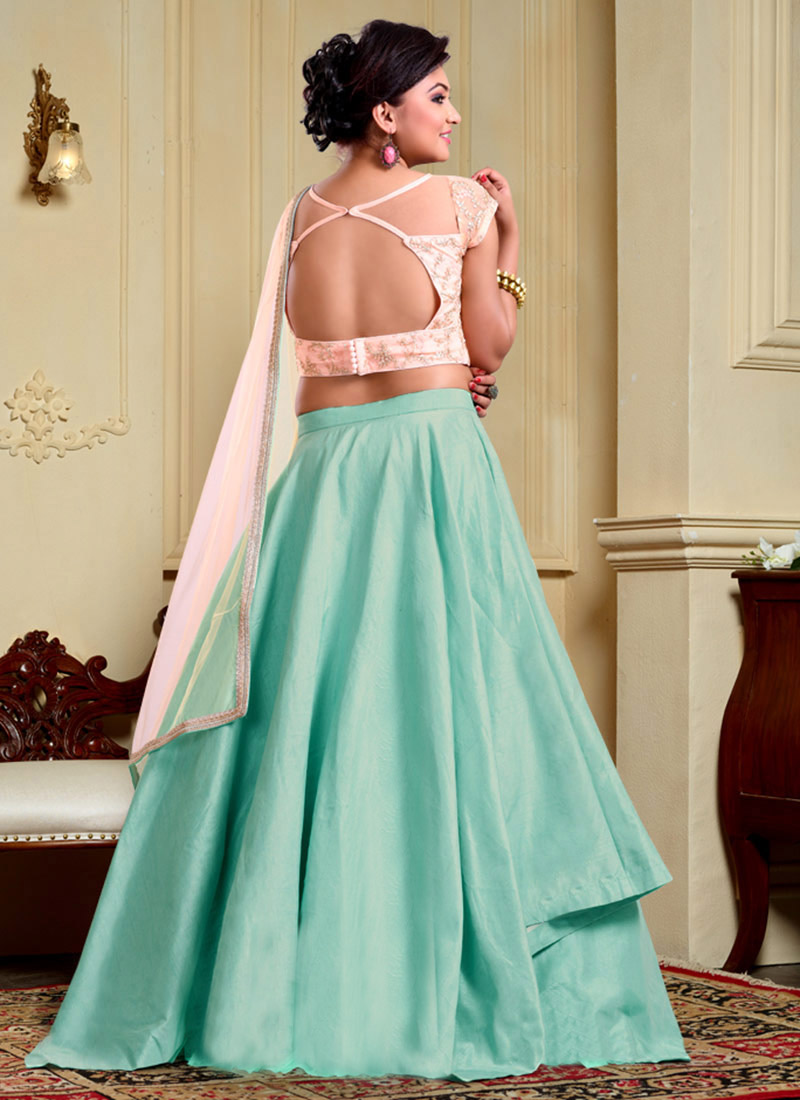 Buy Bollywood Vogue Layered Lehenga Choli N Dupatta, Embroidered ...