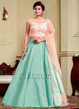 Bollywood Vogue Layered Lehenga Choli N Dupatta
