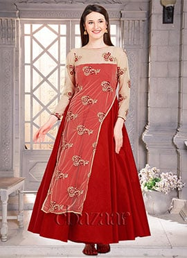Bollywood Vogue Overlapped Anarkali Gown