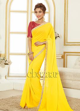 Bollywood Vogue Yellow Sari N Blouse