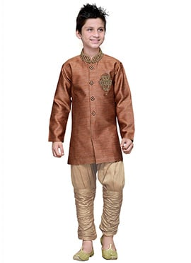 Breeches Style Rust Hand Work Art Silk Teens Sherw
