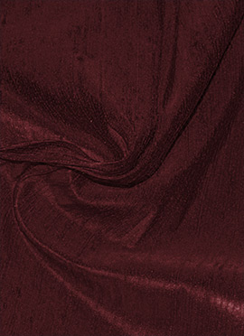 Brown Raw Silk Fabric
