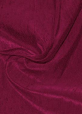 Burgundy Art Raw Silk Fabric