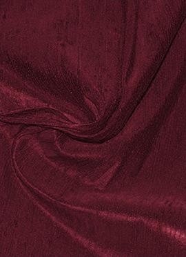 Burgundy Raw Silk Fabric