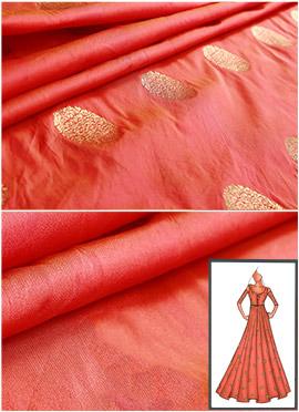 Burnt Orange Front Slit Anarkali Suit