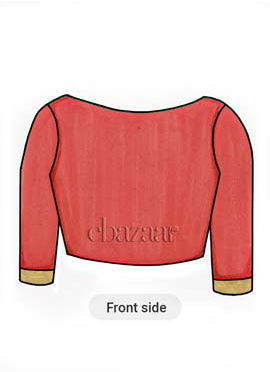 Calypso Coral Cotton Trendy Blouse