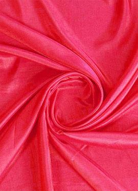 Coral Pink Art Silk Fabric