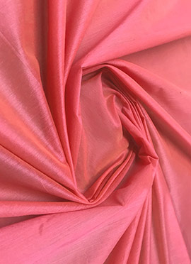Coral pink Chanderi Cotton Fabric