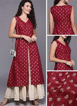 Designer kurti Floral print assymetric kurti kurti for women Casual kurti Kurti dress printed kurti Indian dress Indian kurti