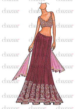 DIY Ileana Dcruz Umbrella Lehenga Choli