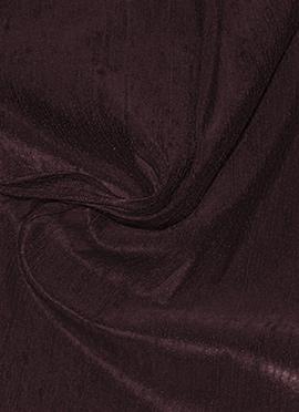 Dark Brown Raw Silk Fabric