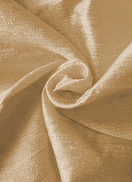 Dark Gold Art Dupion Silk Fabric