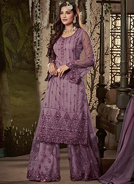 f69a485cf85 Buy Indian Ethnic Wear Lavender Color Indian Ethnic Wear