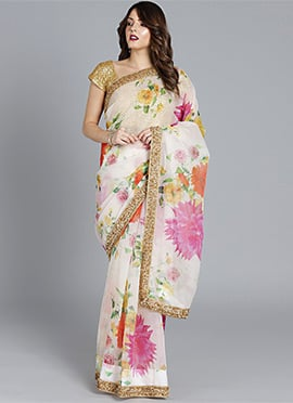 ca046584d4 White Sarees: Buy Latest White Sarees Online Shopping