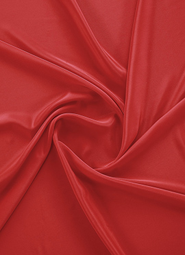 Fiery Red Crepe Fabric