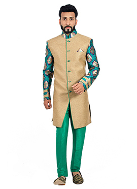 Gold N Green Sherwani