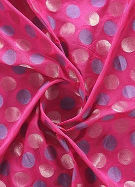 Gold N Pink Brocade Fabric