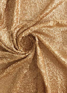 Gold Sequins Georgette Fabric