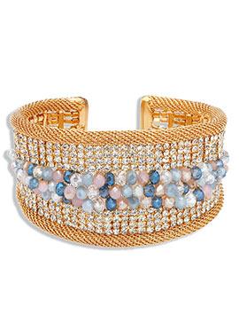 Gold Yazuri Embellished Bracelet