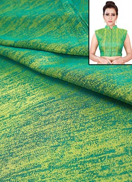 Green Art Silk Blouse