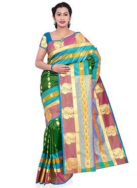 Green Kancheepuram Art Silk Saree