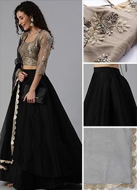 PINK Lehenga Choli Indian Ethnic Wedding Wear Lengha Chunri Skirt Top Dress