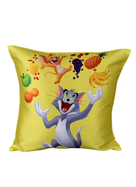Grey N Yellow Warner Brother Tom and Jerry Cushion