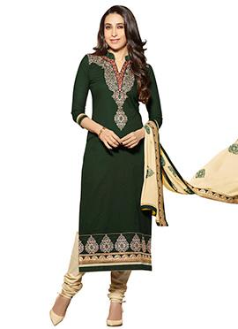 Karisma Kapoor Green Straight Suit