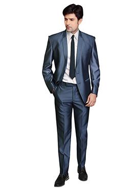 Lapel Style Bluish Grey Suit