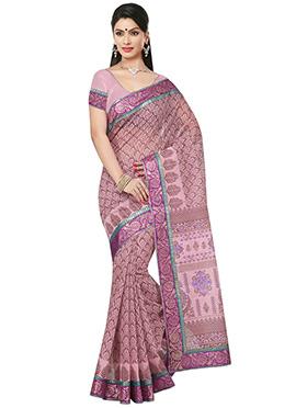 Lavender Printed Saree