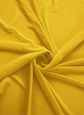 Lemon Chrome Georgette Fabric