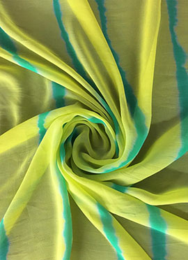 Light Green Leheria Georgette Fabric