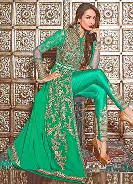 Malaika Arora Green Straight Pant Suit